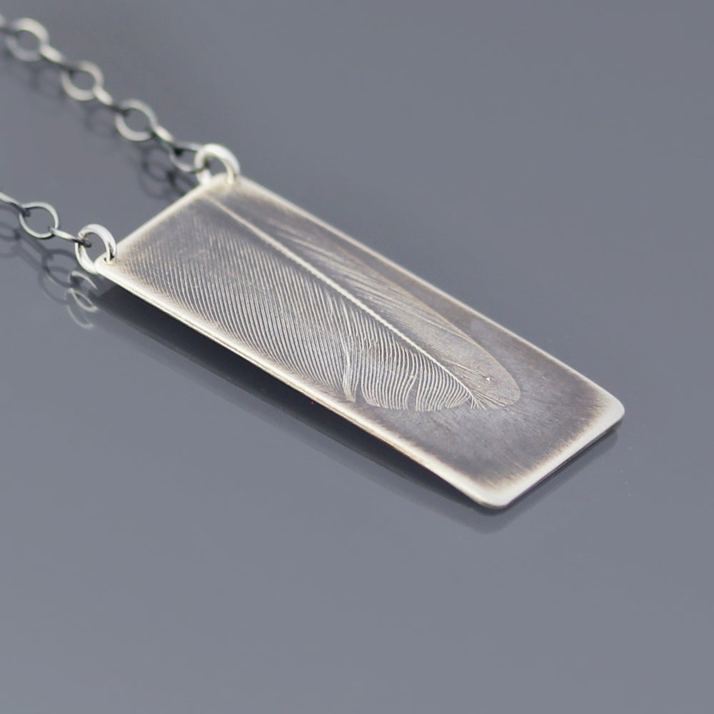 Image of Sterling Silver Feather Necklace No. 2