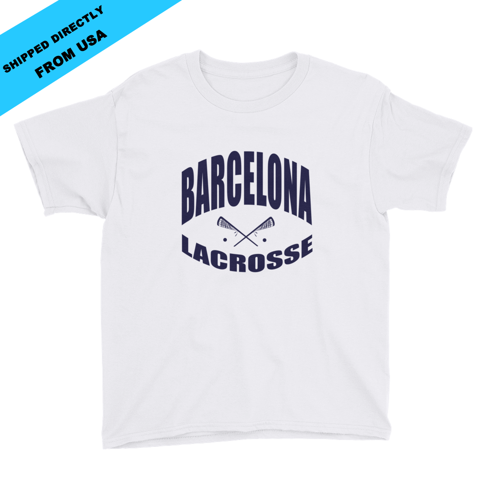 Image of Youth Barcelona Lacrosse T-shirt - White