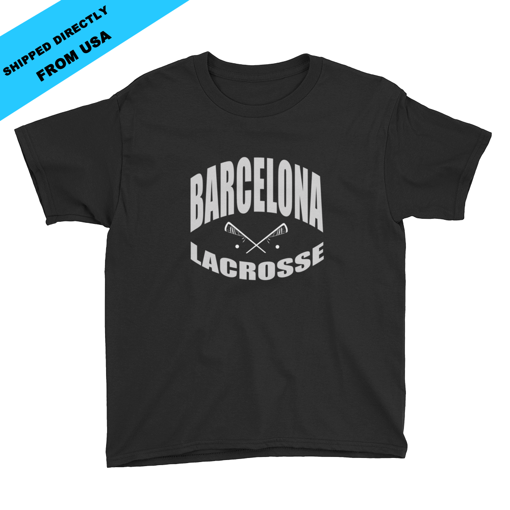 Image of Youth Barcelona Lacrosse T-shirt - Black