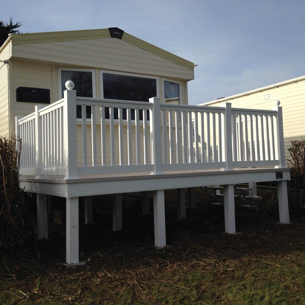 Image of 12x8ft Enclosed Front Decking