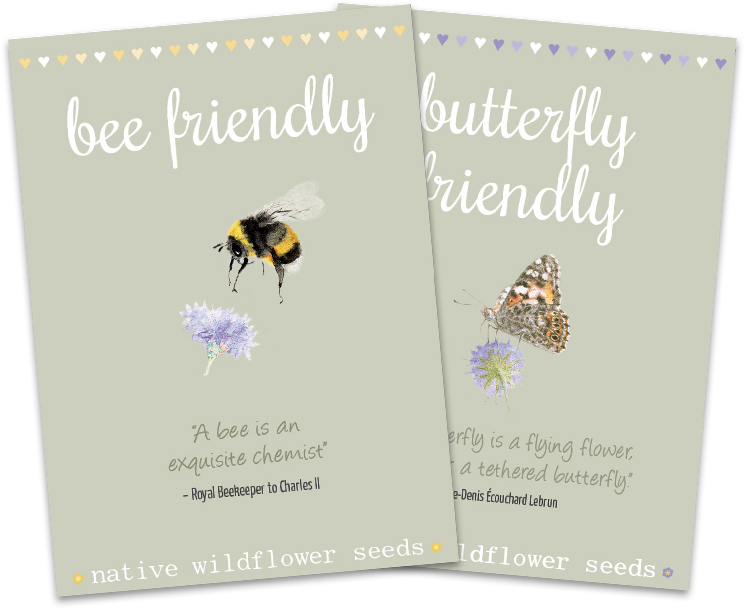 Image of Duo Pack of Bee and Butterfly Quote Packs