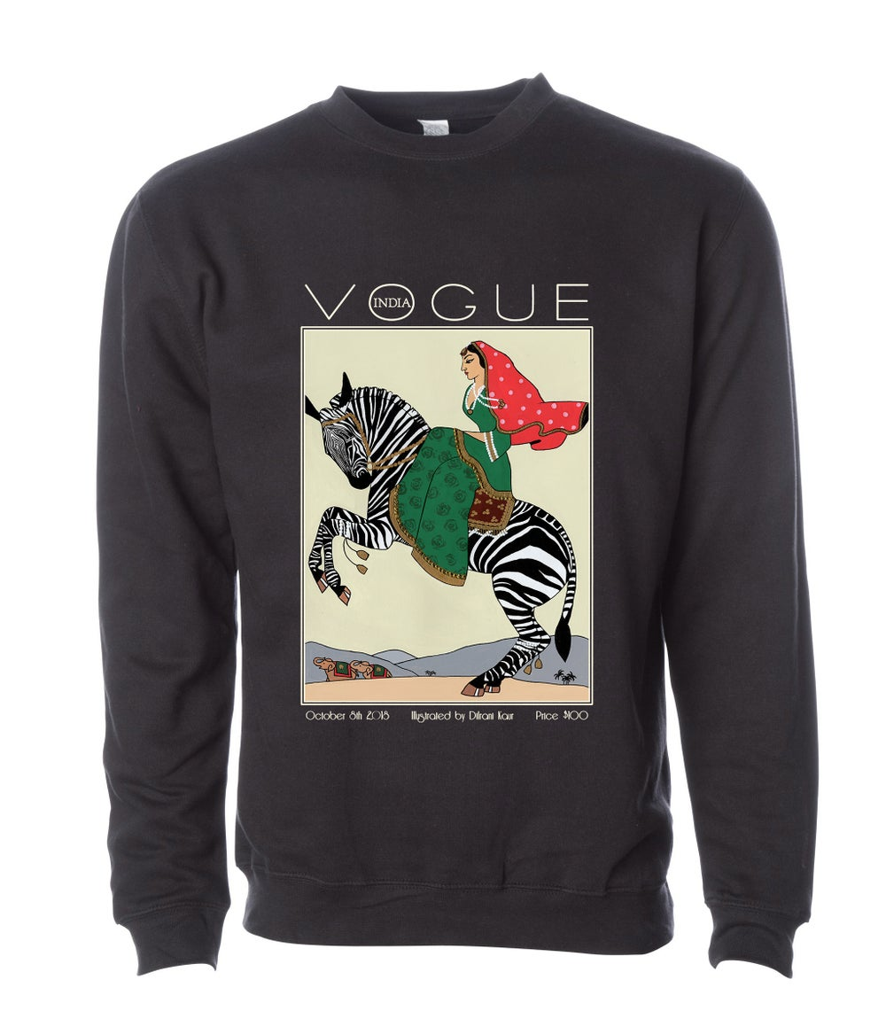 Image of Rani on a Zebra - UNISEX SWEATSHIRT