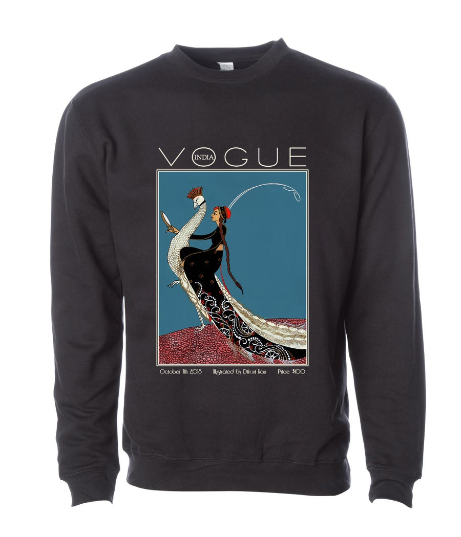 Image of Rani on a Peacock - UNISEX SWEATSHIRT