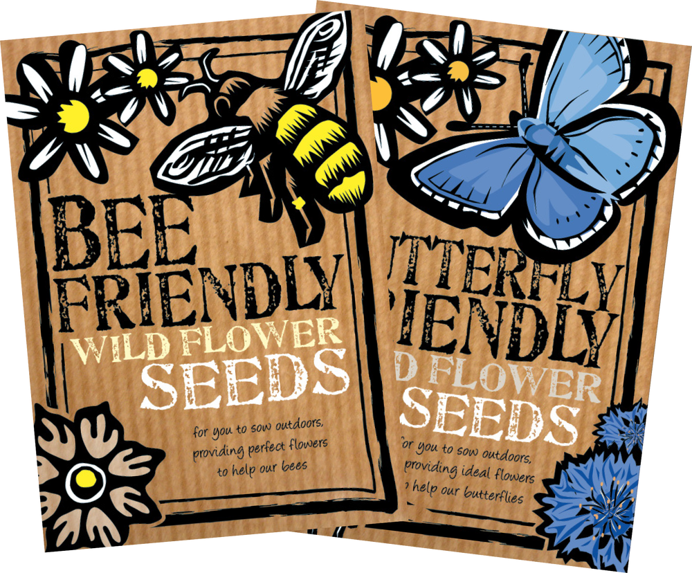 Image of Duo Pack of Bee Friendly & Butterfly Friendly Wild Flower Seeds