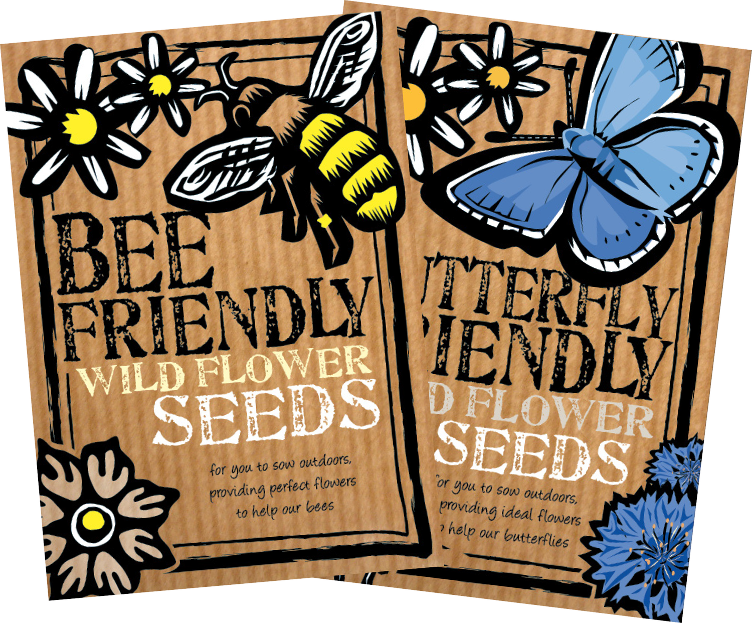 Image of Duo Pack of Bee Friendly & Butterfly Friendly Wild Flower Seeds (£5.49 including VAT))
