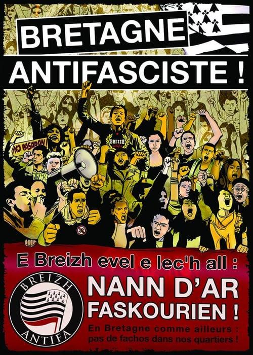 """Image of Lot d'autocollants """"Bretagne antifasciste"""""""