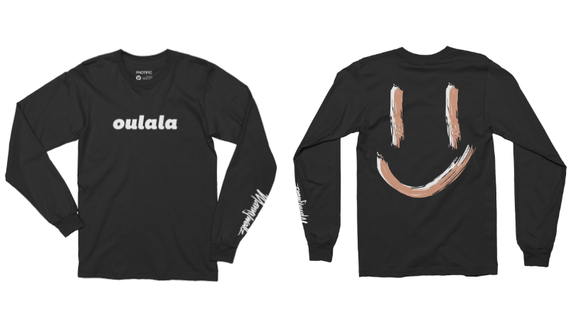 Image of BLACK LONG SLEEVE OULALA SHIRT