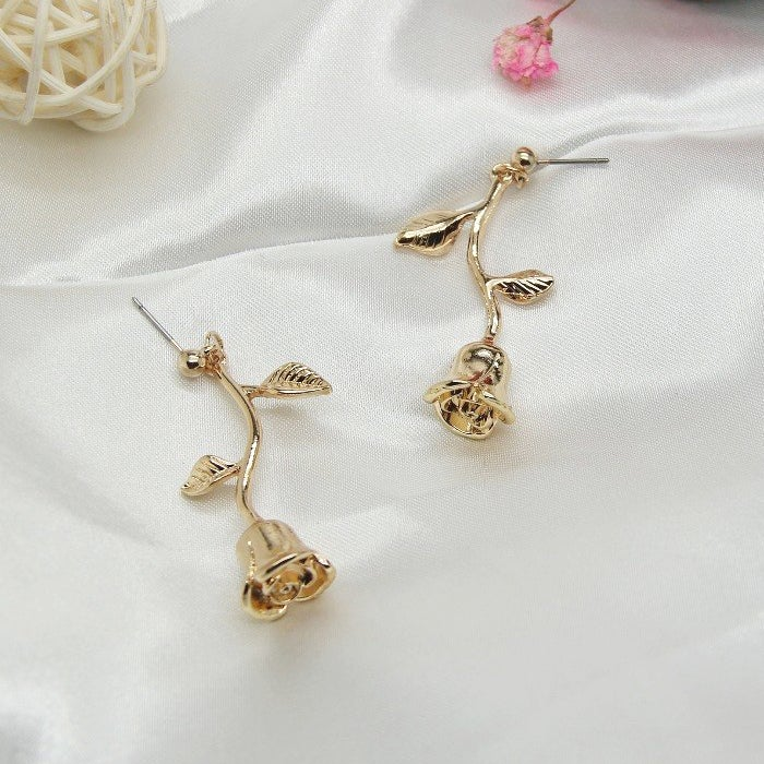 Image of DANGLE ROSE EARRINGS