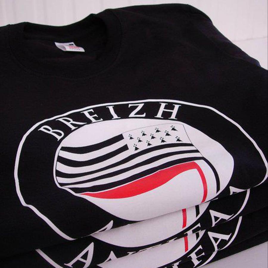 "Image of  T-shirt ""Drapeau Breizh Antifa"" noir"