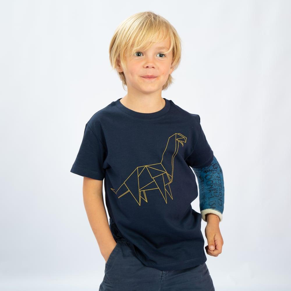 Image of T-SHIRT BOY short sleeve DINO navy