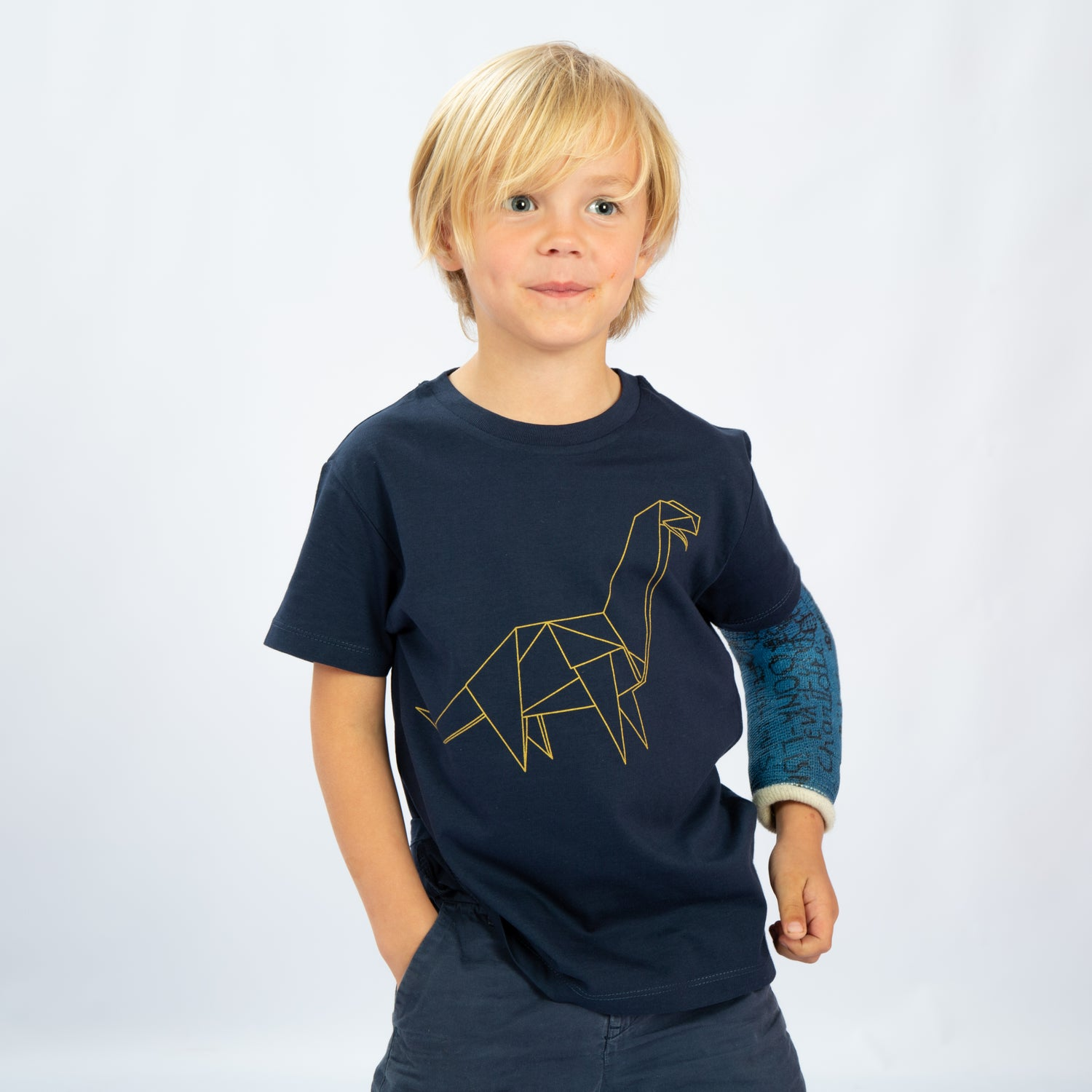 Image of T-SHIRT BOY short sleeve DINO navy