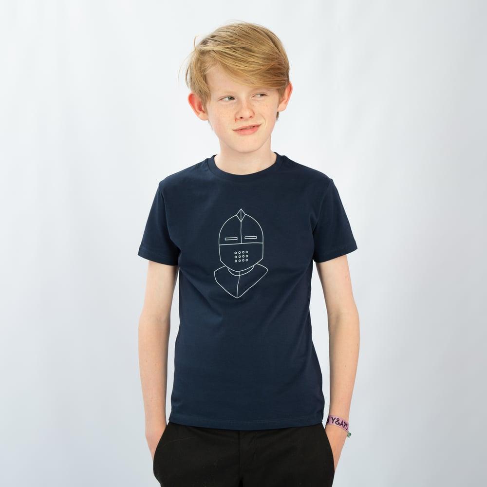 Image of T-SHIRT BOY short sleeve KNIGHT navy