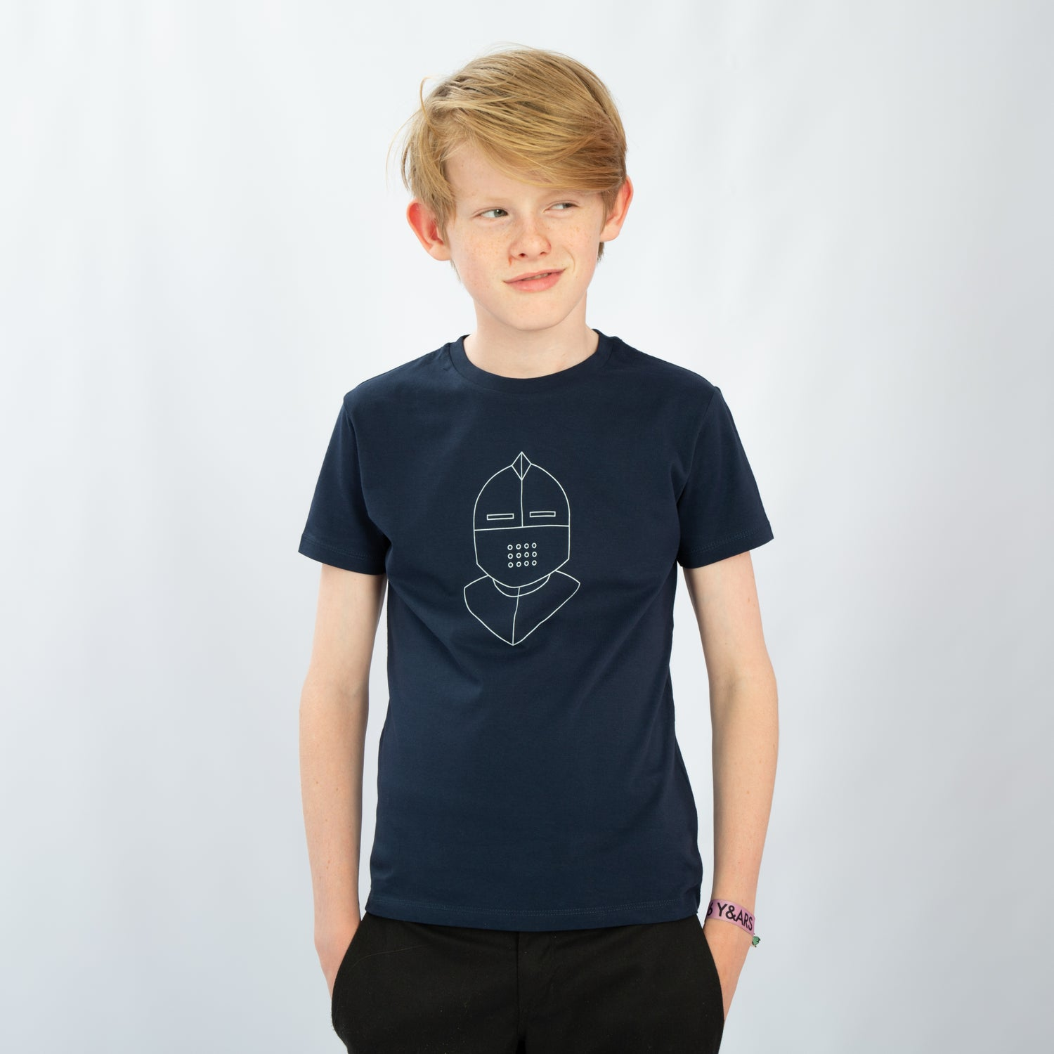 Image of T-SHIRT BOY short sleeve KNIGHT navy