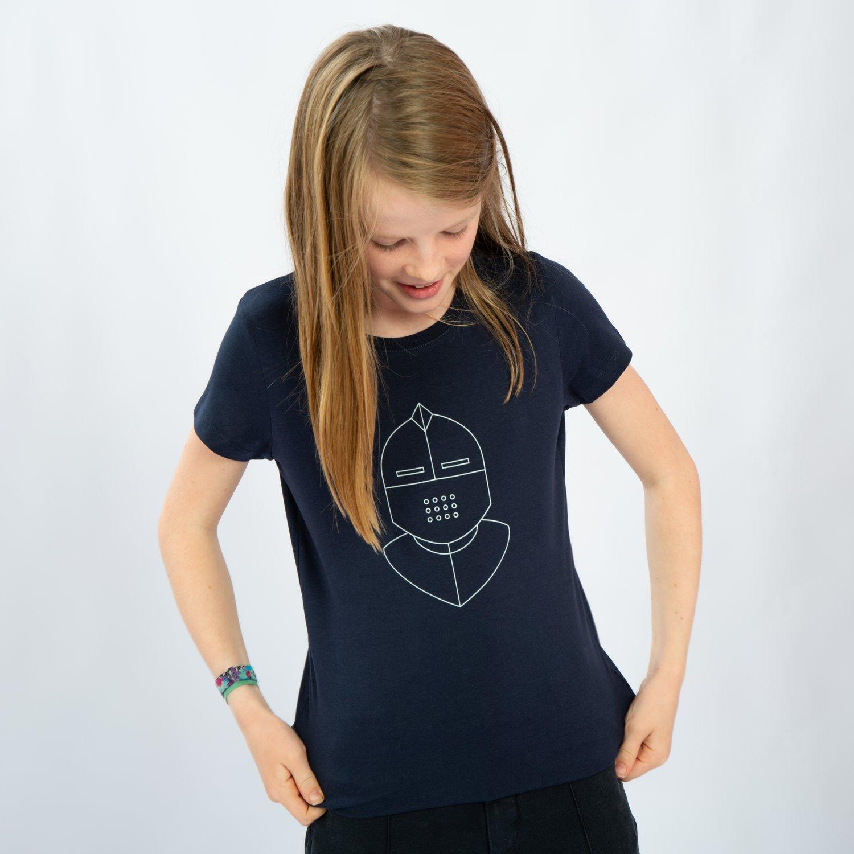 Image of T-SHIRT GIRL short sleeve KNIGHT navy