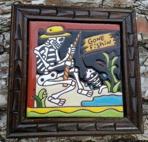 Image of Gone Fishing Coaster Tile