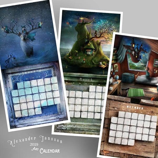Art Calendar 2019 - Alexander Jansson Shop