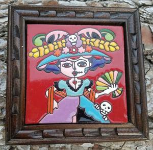 Image of Mini Frida Catrina Coaster Tile