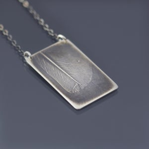 Image of Sterling Silver Feather Necklace, No 3