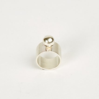 Image of Ball Ring Wide Band - Sterling Silver