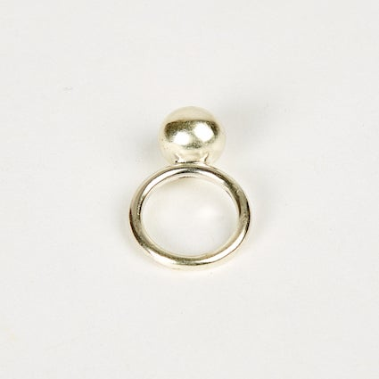 Image of Large Ball Ring Round Band - Sterling Silver