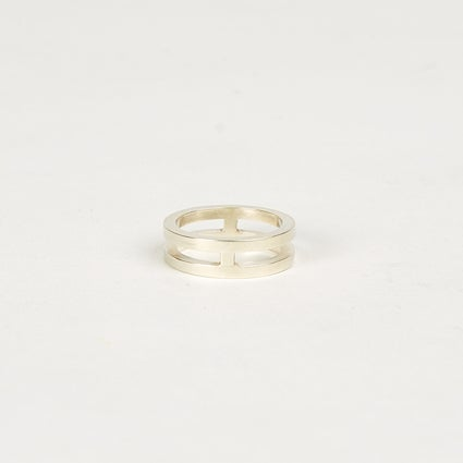 Image of Double Band with Double Join - Sterling Silver