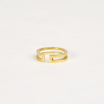 Image of Double Band with Gap - 9 carat Gold