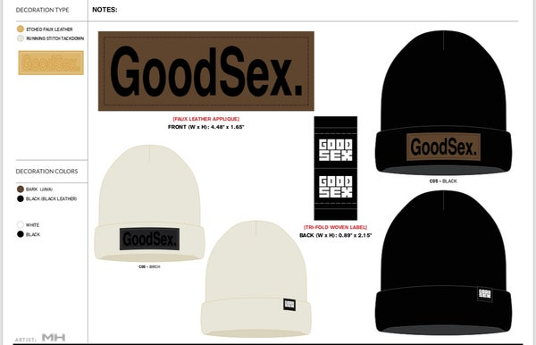 Image of [PRE-SALE] GoodSex Waffle-Cut Flip-Top Beanie