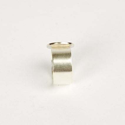 Image of Large Circle Thick Band Ring - Sterling Silver