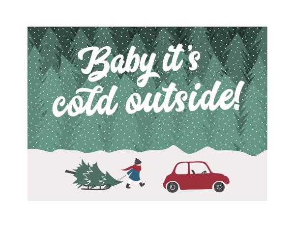 Image of Baby It's Cold Outside Set of Six Note Cards
