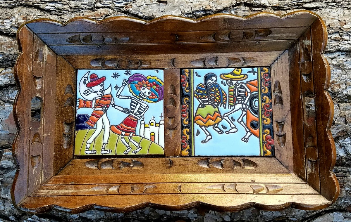 Image of Dancing Wooden Double Tray