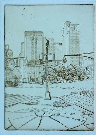 "Image of ""Midtown."" Limited Edition Etching"