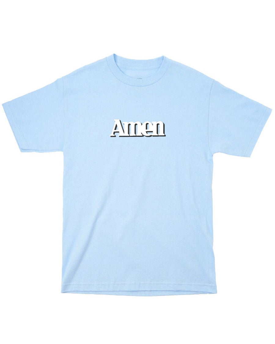Image of AMEN TEE - BABY BLUE