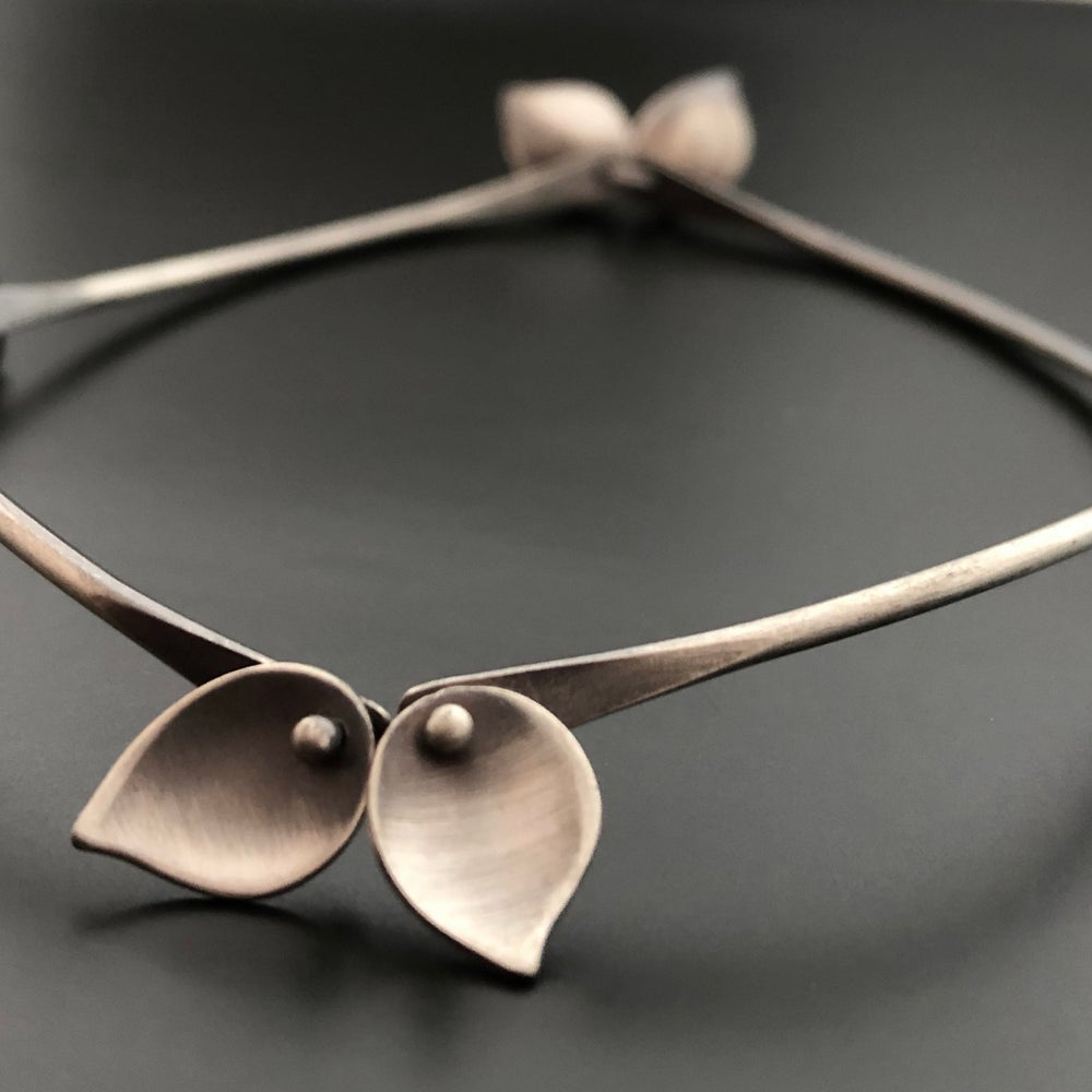 Image of Small Leaves Bracelet - Rose Gold Filled, Yellow Gold Filled or Oxidized Sterling Silver