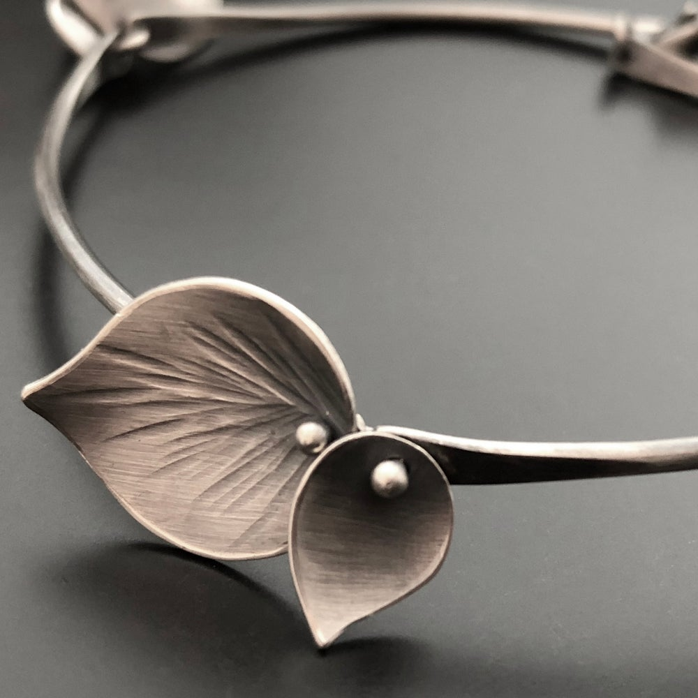 Image of Large and Small Leaf Bracelet with clasp