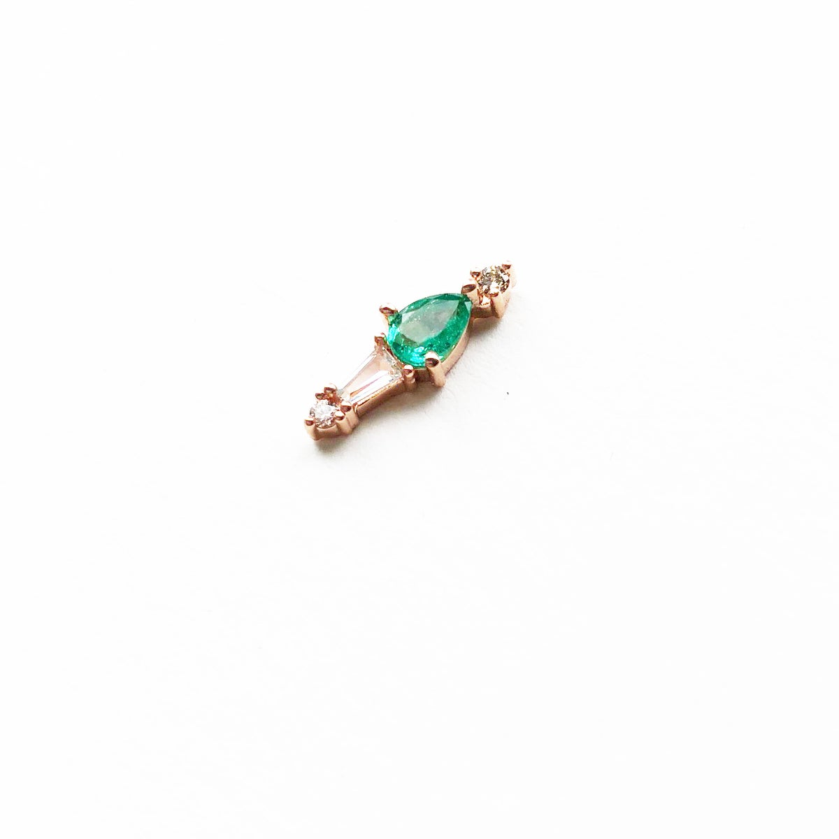 Image of Adele Emerald Earring  (Single piece)