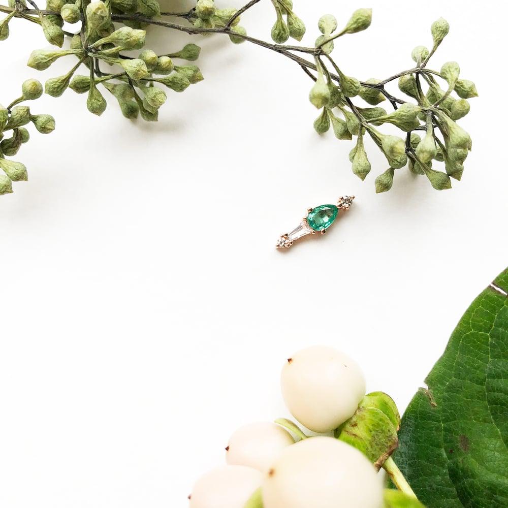 Image of Adele Emerald Earring  (Single piece)