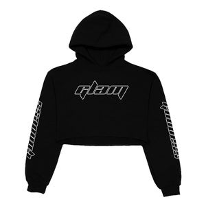 Image of SOLD OUT | BLACK GLAM OFFICIAL RACER CROP TOP HOODIE | OFFICIAL GLAM 3.0 RELEASE