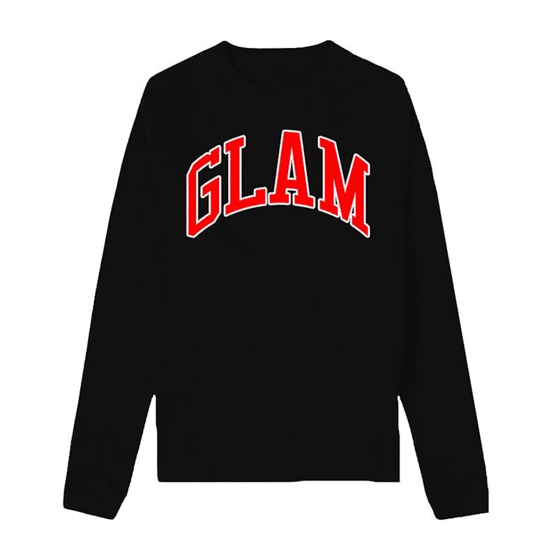 Image of BLACK EMPOWERED GODDESS FLEECE CREWNECK | OFFICIAL GLAM 3.0 RELEASE