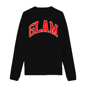 Image of BLACK EMPOWERED GODDESS FLEECE CREWNECK | OFFICIAL GLAM 3.0 RELEASE
