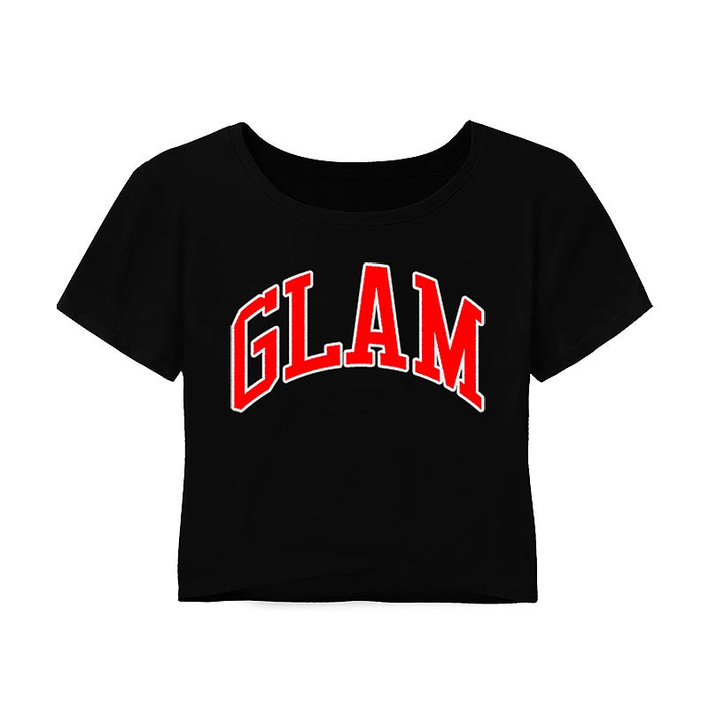 Image of BLACK EMPOWERED GODDESS CROP TOP TEE | OFFICIAL GLAM 3.0 RELEASE