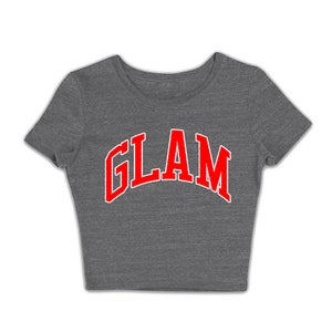 Image of HEATHER GRAY EMPOWERED GODDESS CROP TOP TEE | OFFICIAL GLAM 3.0 RELEASE