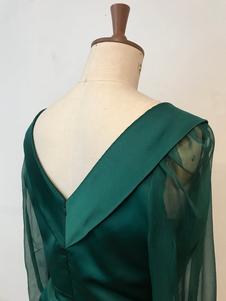 Image of Satin Margot dress
