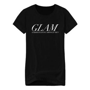 Image of SOLD OUT | BLACK FUTURE IS GODDESS OFFICIAL LADIES FITTED TEE | OFFICIAL GLAM 3.0 RELEASE