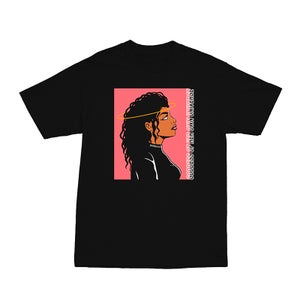 Image of SOLD OUT | BLACK GODDESS OF HER OWN UNIVERSE DIGITAL ART TEE | OFFICIAL GLAM 3.0 RELEASE