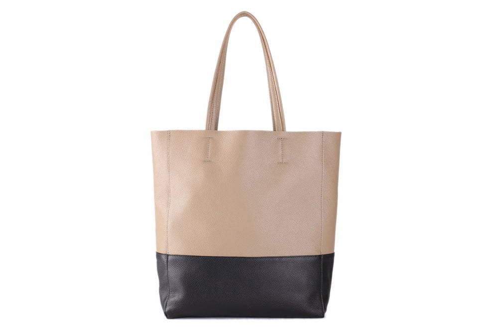 Image of Full Grain Leather Tote Bag, Leather Shopper Bag, Women Leather Bag, Shoulder Bag, Diaper Bag