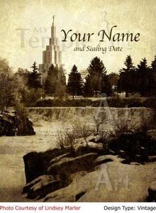 Image of Idaho Falls Idaho LDS Mormon Temple Art 003 - Personalized LDS Temple Art