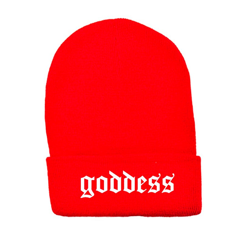 Image of SOLD OUT | RED GODDESS OFFICIAL BEANIE | OFFICIAL GLAM 3.0 RELEASE