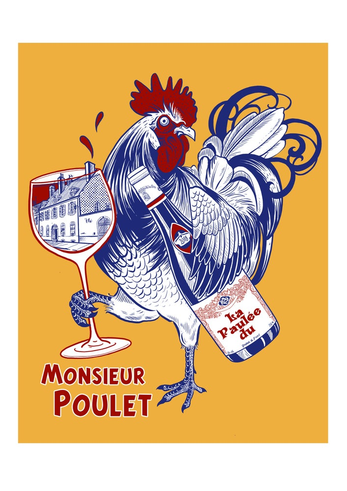 Image of Monsieur Poulet A3 Digital Print