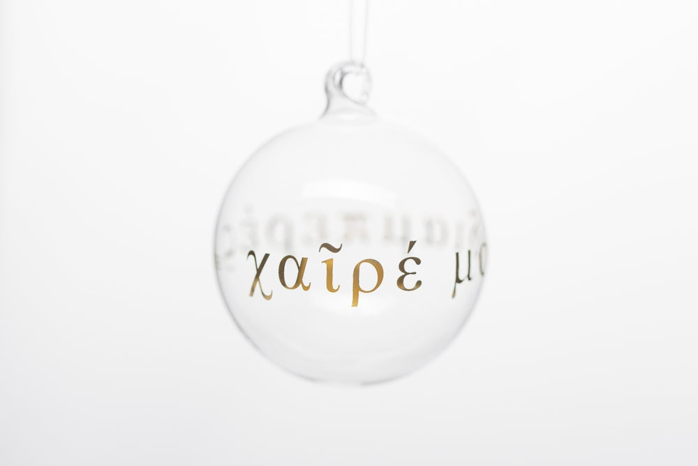 Image of VERBA 7cm Christmas tree ball with gold inscription