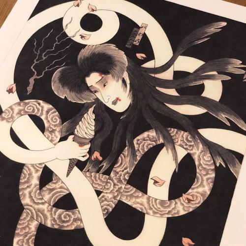 Image of HORIHIRO SOFT CREAM GHOST PRINT